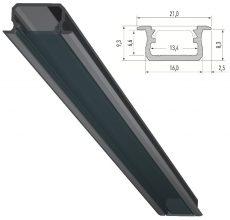 B típusú led-profil sávos és gipszkarton álmennyezetekhez alu elox
