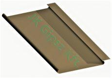 Sávos álmennyezet lap 184 mm. széles lekerekített éllel zárt