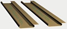 Sávos álmennyezet lap 84 mm. széles lekerekített éllel zárt