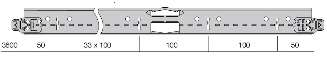 Armstrong SystemS főtartó álmennyezeti sin 24 mm talpszélességű részlet