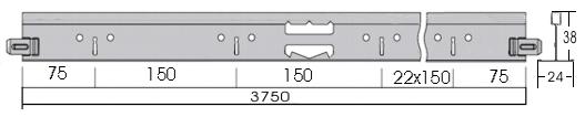 T24 álmennyezeti főtartó MCI