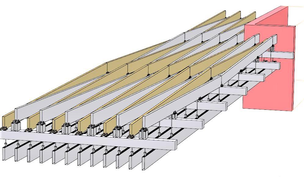 Armstrong metall baffle előzetes láivány részlet