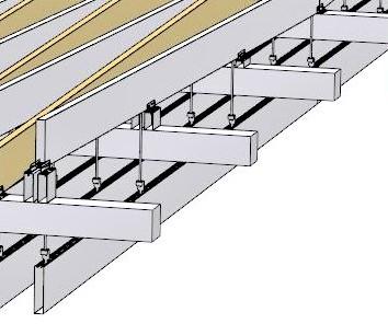 Armstrong metall baffle tervezési fázis