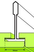 Rejtett bordás/Sarkos élkiképzésü un. folyosoi (plank) álmennyezeti lapok ikonja