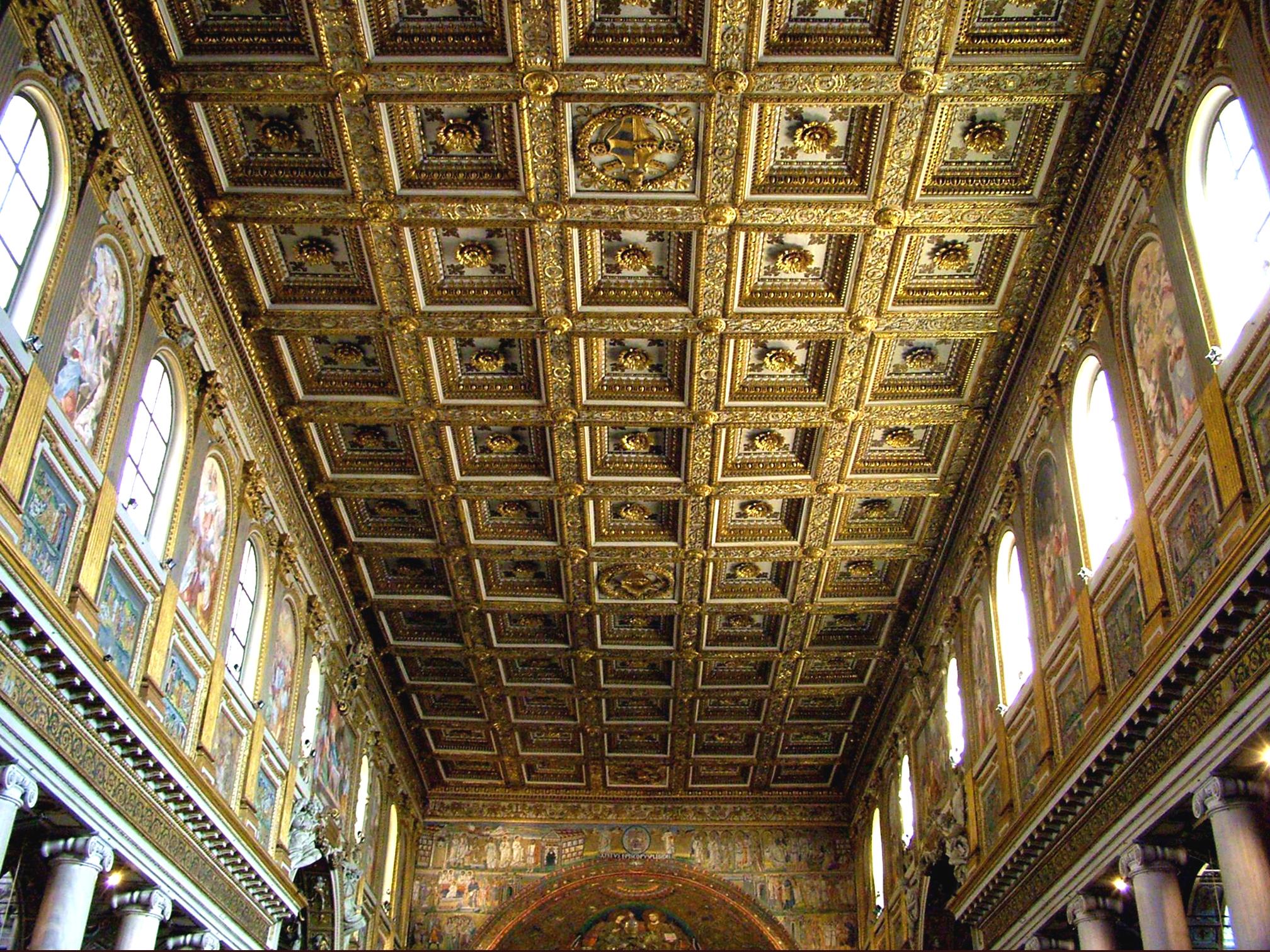 Kazettas almennyezet róma szent mária katedralis