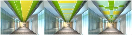 Folyosó álmennyezeti kinézete különféle variációkban