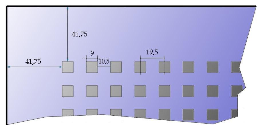 Rigips Gytone Quatro20 perforáció részletek