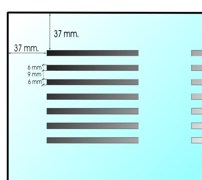Rigips Gytone Line4 álmennyezeti lap perforációjának részletei