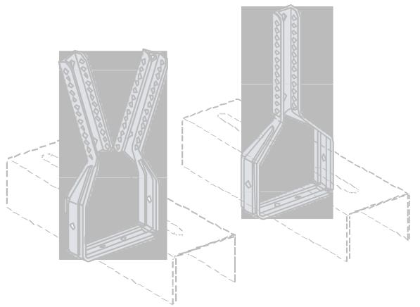 Függesztő alsó rész elhelyezése bordavázon