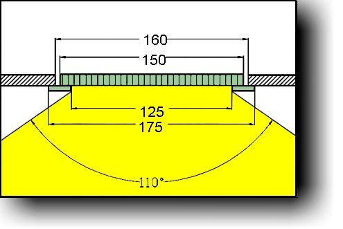 12 Wattos ledlámpa álmennyezeti elhelyezése