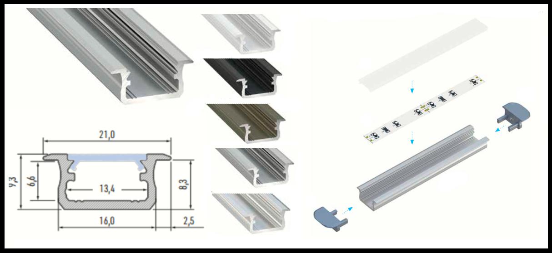 Gipszkarton álmennyezetbe építhető led profil
