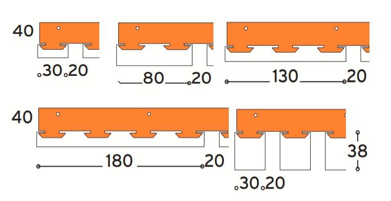 Főtartóba illesztető modulok